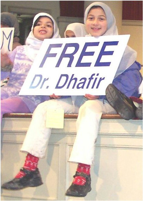 Image from the Free Dhafir rally